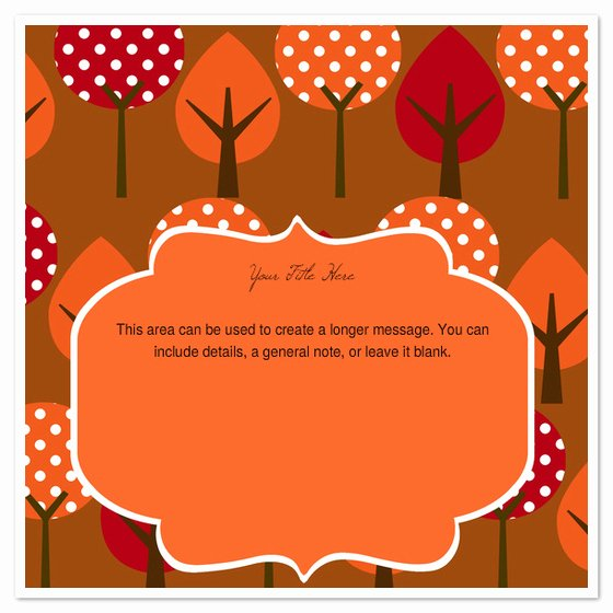 Fall Party Invitation Template New Autumn Trees Invitations & Cards On Pingg