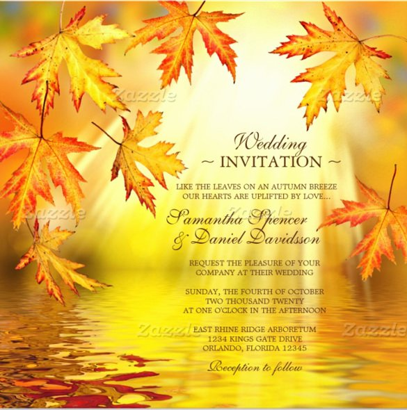 Fall Party Invitation Template Unique 26 Fall Wedding Invitation Templates – Free Sample