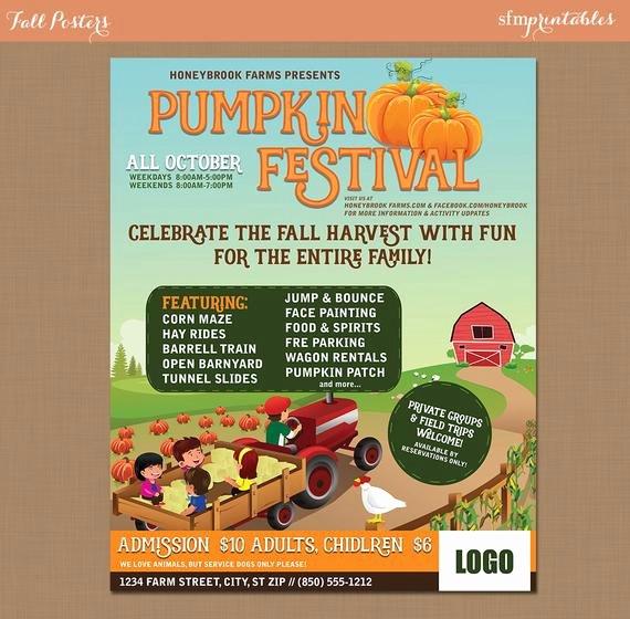 Fall Party Invitation Template Unique Fall Festival Harvest Invitation Poster Flyer Pumpkin