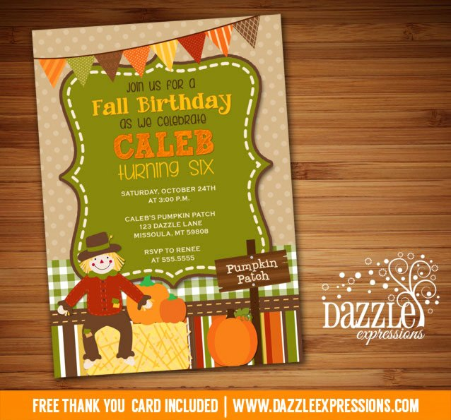 Fall Party Invitation Template Unique Printable Kids Fall Birthday Invitation Pumpkin Patch