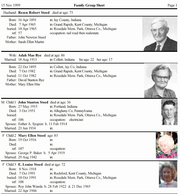 Family Group Template Inspirational forms for Genealogical Research