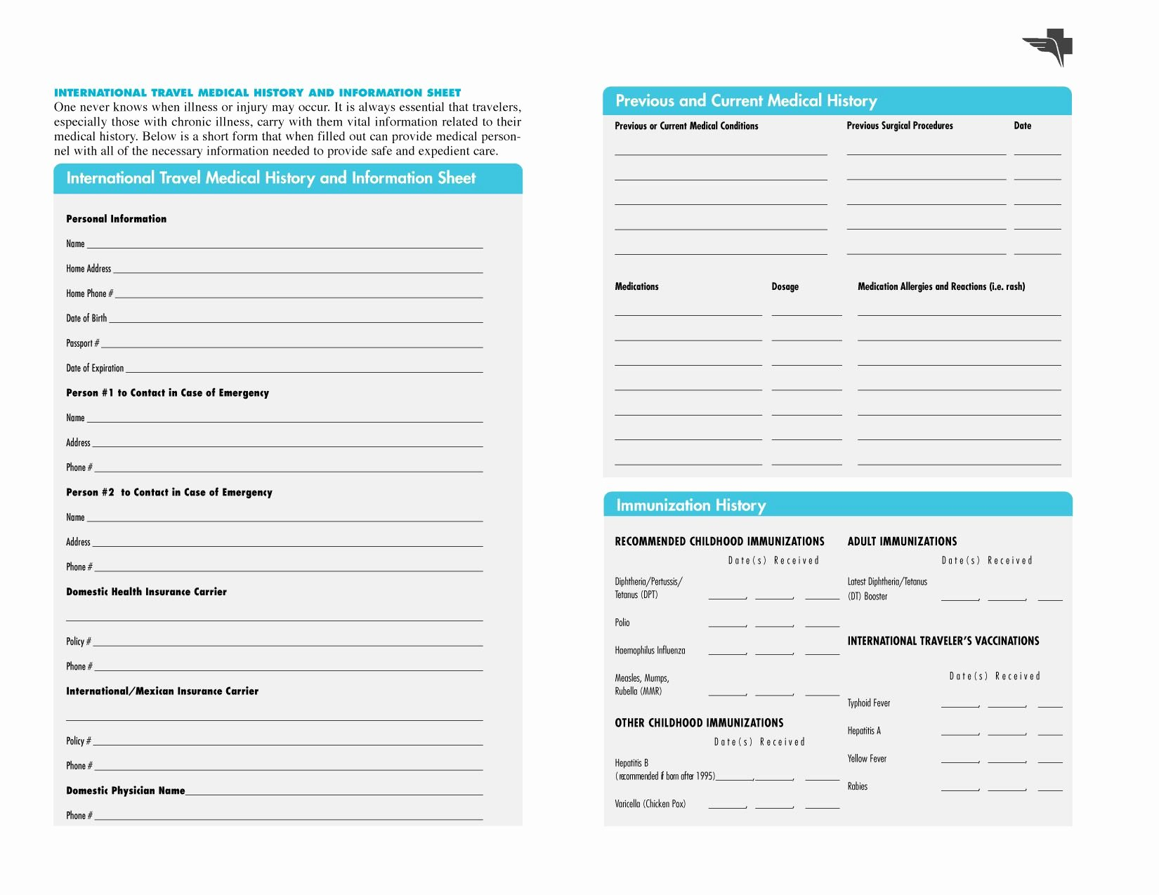 Family Medical History Questionnaire Template Inspirational Free Printables
