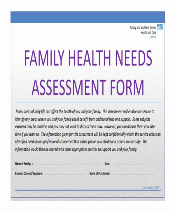 Family Needs assessment Best Of 27 Needs assessment Pdf