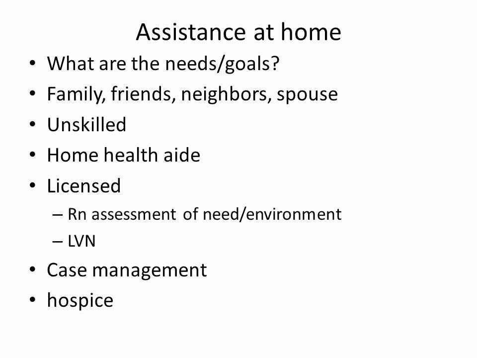 Family Needs assessment Luxury Vn057 Gerontology Ppt