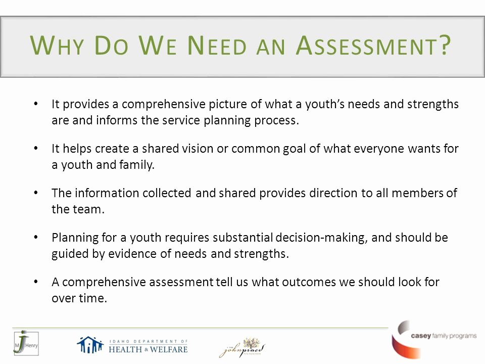 Family Needs assessment Unique What is Cans Child and Adolescent Needs and Strengths