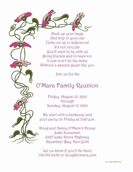 Family Reunion Agenda Template Inspirational Family Reunion Invitations Wording