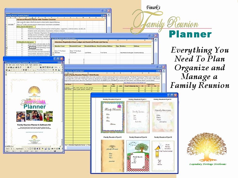 Family Reunion Agenda Template Unique Fimark S Family Reunion Planner 2 5