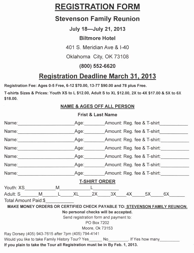 Family Reunion Registration form Doc Awesome Family Reunion Letters Template Free Download Aashe