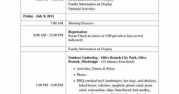 Family Reunion Registration form Doc Inspirational Family Reunion Games Document Sample