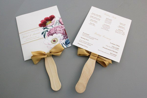 Fan Wedding Programs Templates Beautiful A Round Up Of Free Wedding Fan Programs B Lovely events