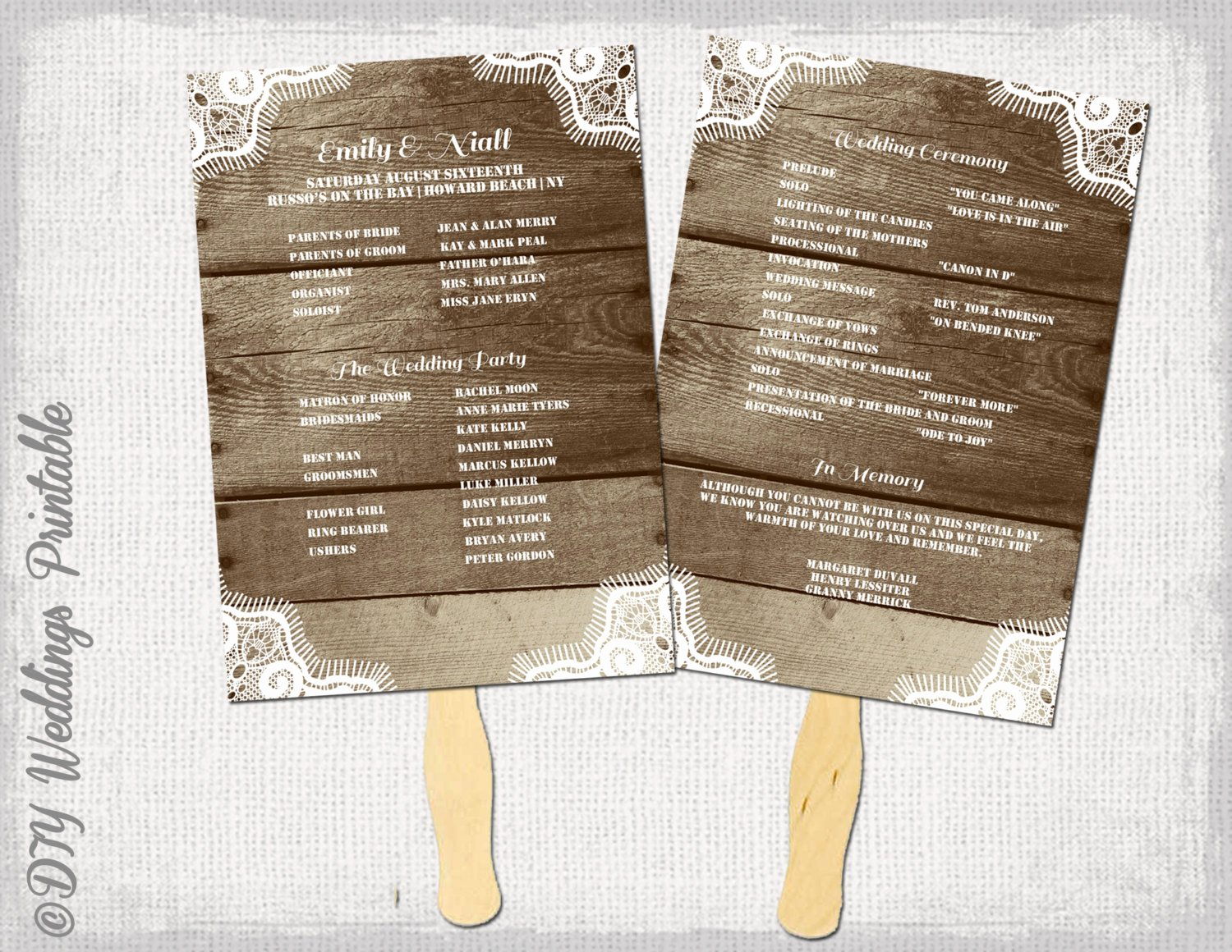 Fan Wedding Programs Templates Beautiful Rustic Wedding Program Template Fan Wedding Programs