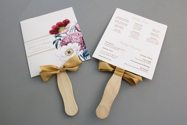 Fan Wedding Programs Templates Best Of A Round Up Of Free Wedding Fan Programs B Lovely events