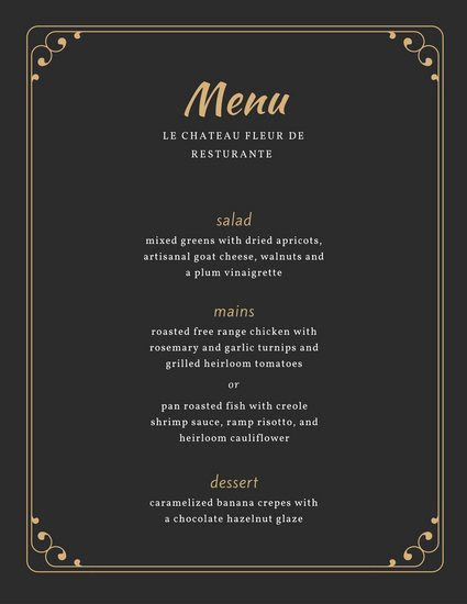 Fancy Menu Template Best Of Fancy Menu Templates Canva