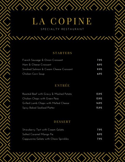 Fancy Menu Template Elegant Customize 70 Fancy Menu Templates Online Canva