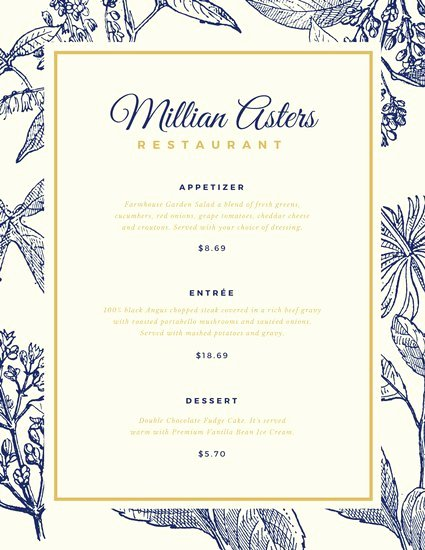 Fancy Menu Template Inspirational Customize 244 Elegant Menu Templates Online Canva