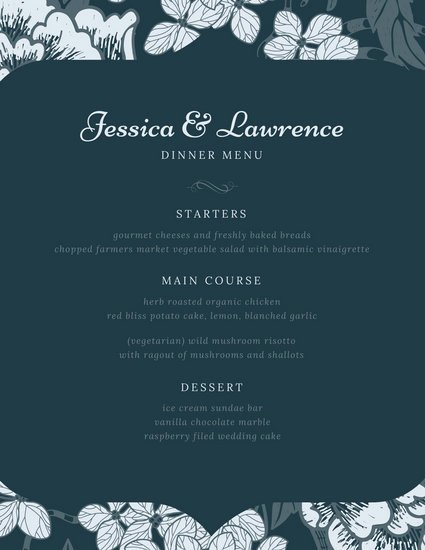 Fancy Menu Template Lovely Customize 70 Fancy Menu Templates Online Canva