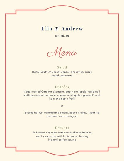 Fancy Menu Template New Customize 50 Fancy Menu Templates Online Canva