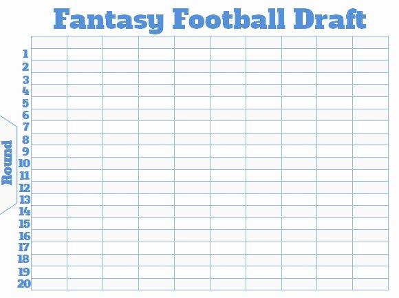 Fantasy Football Roster Sheet Blank Elegant Fantasy Football Draft Board Creator Free Printable