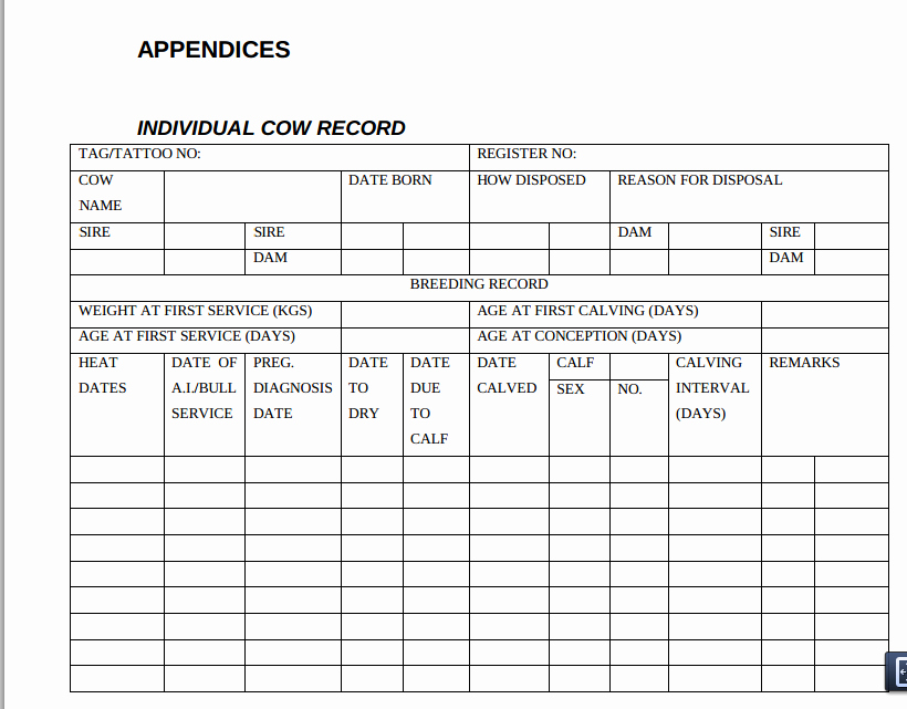 Farm Record Keeping Excel Template New Farm Record Keeping Templates