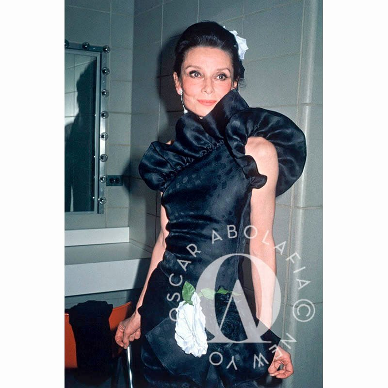 Fashion Institute Of Technology Niche Lovely Oscar Abolafia Foto Audrey Hepburn 1982 Vida Real