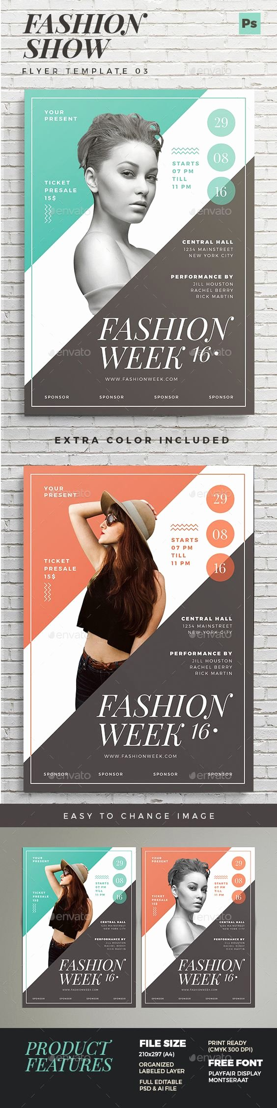 Fashion Show Flyer Template Beautiful Fashion Show Flyer 03