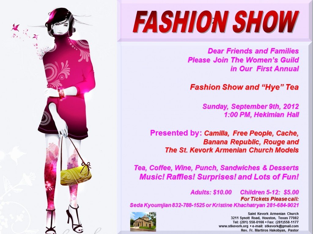 Fashion Show Flyer Template Elegant September events – St Kevork Armenian Church