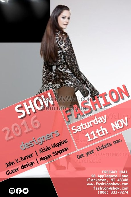 Fashion Show Flyer Template Free Awesome Fashion Show Template