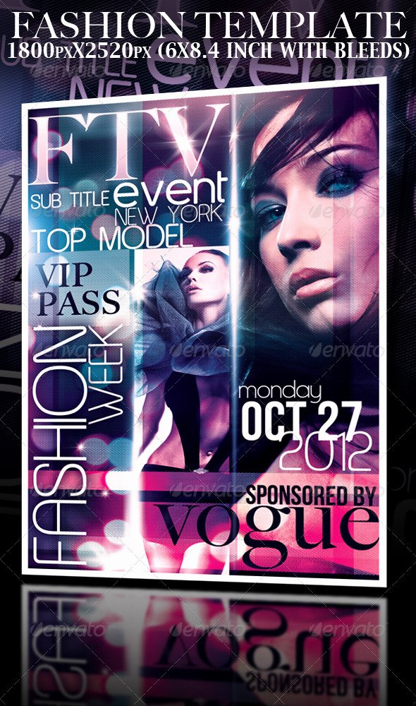 Fashion Show Flyer Template Free Best Of Fashion event Template by Yaniv K