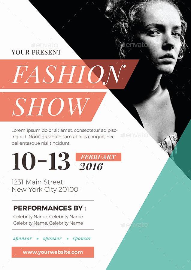 Fashion Show Flyer Template Free Elegant Fashion Show Flyer by Vynetta