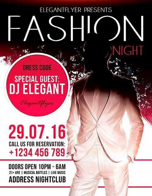 Fashion Show Flyer Template Free Lovely Download Fashion Night Free Flyer Psd Template