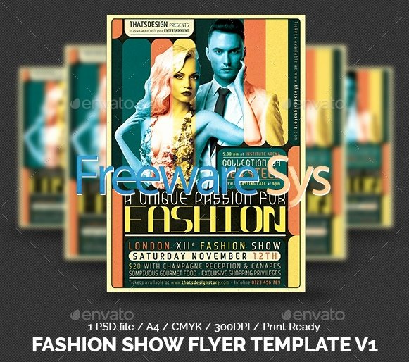 Fashion Show Flyer Template Free Lovely Graphicriver Fashion Show Flyer Template V1