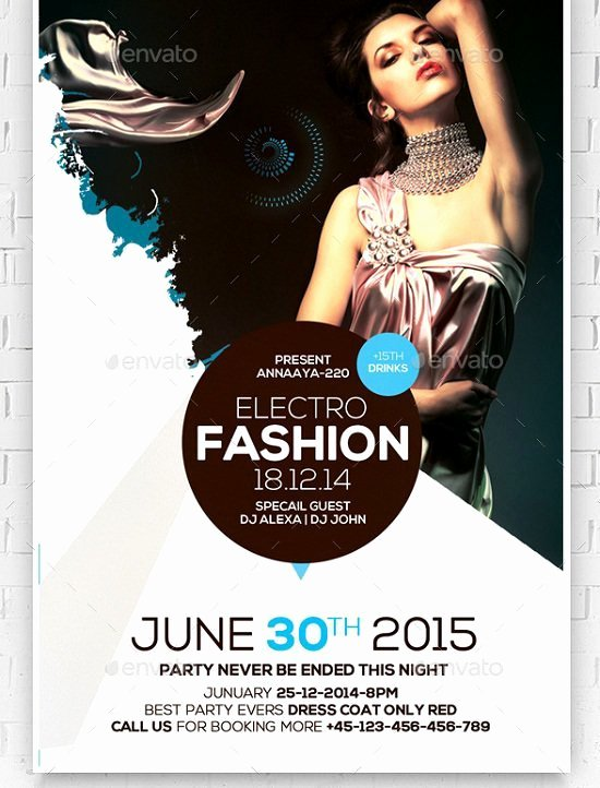 Fashion Show Flyer Template Free New 30 Best Fashion Flyer Templates
