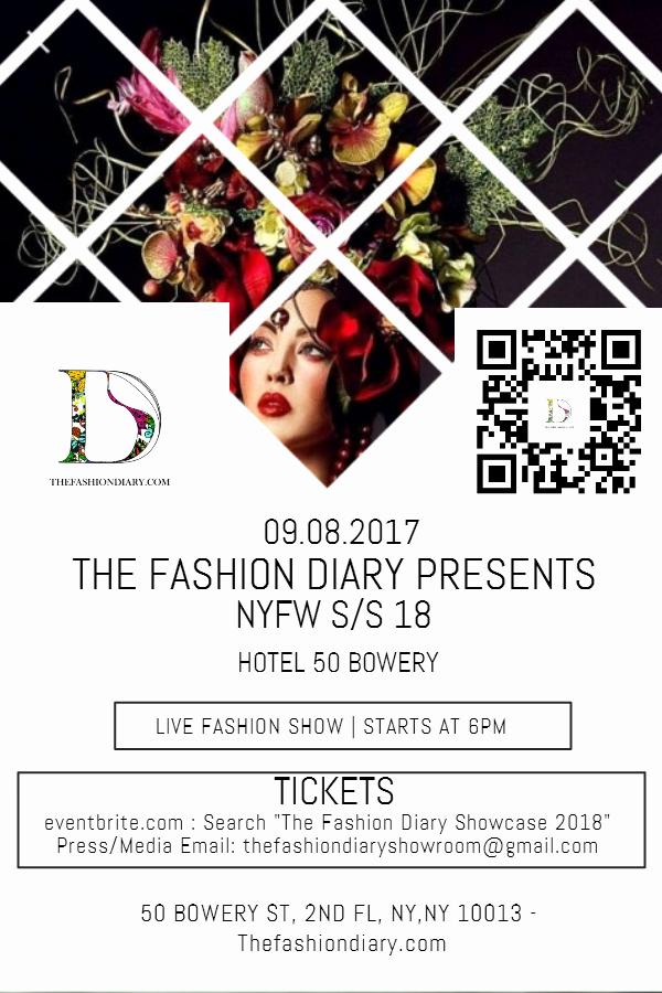Fashion Show Flyer Template Free New the Fashion Diary Showcase Nyfw S S 18