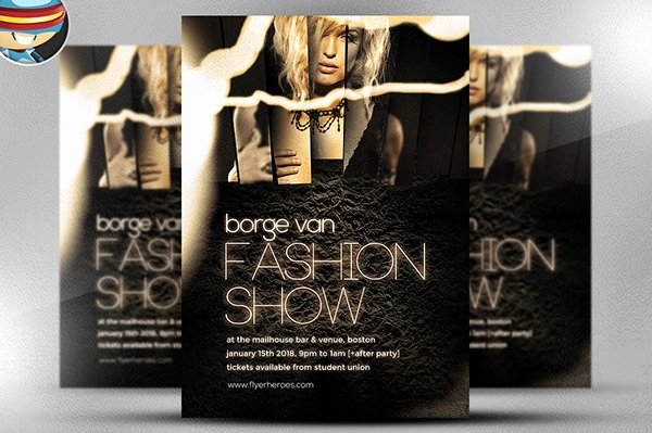Fashion Show Flyer Template Inspirational Fashion Show Flyer Template On Behance