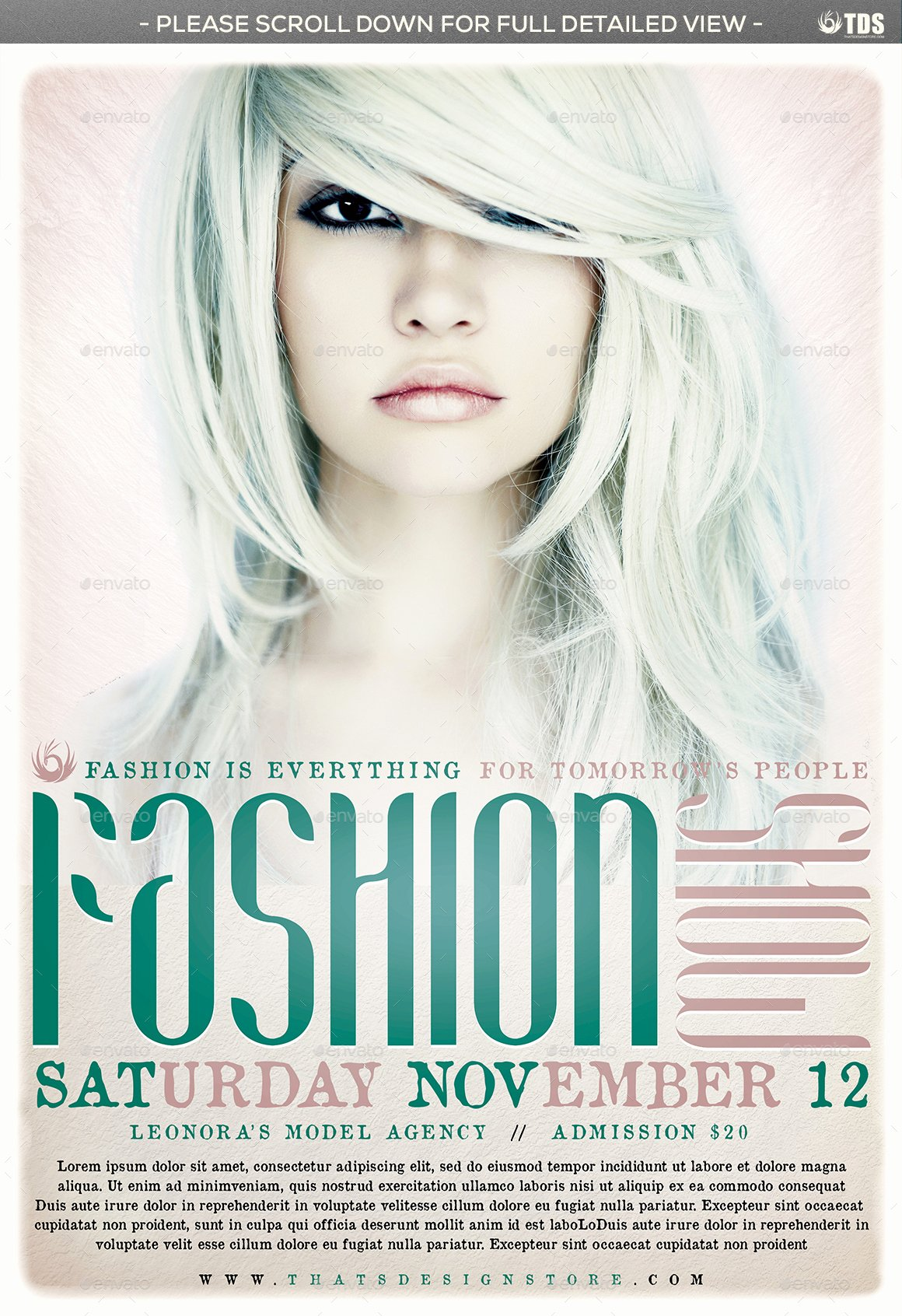 Fashion Show Flyer Template Unique Fashion Show Flyer Template V2 by Lou606