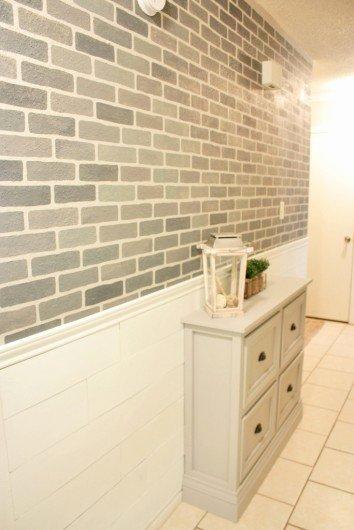 Faux Brick Stencil Elegant A Diy Stenciled Brick Hallway Accent Wall
