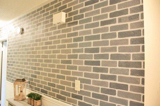 Faux Brick Stencil Elegant Diy Faux Brick Accent Wall Diy Projects
