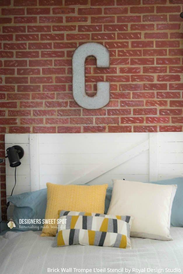 Faux Brick Stencil Fresh the Secret to A Faux Brick Wall Wall Mural Stencils Diy