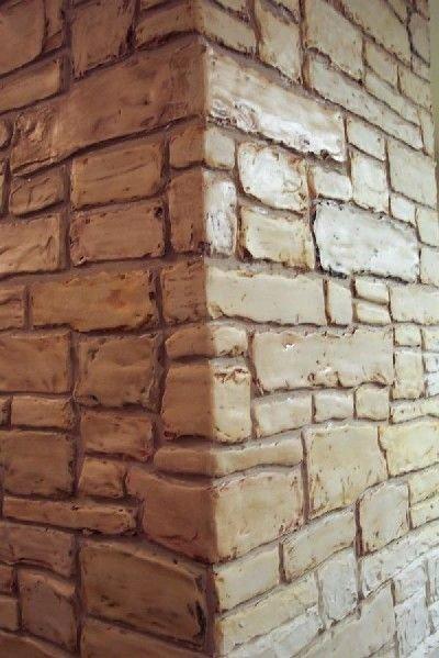 Faux Brick Stencil Luxury Stencil Plaster Stacked Stone Stencil Wall Stencil