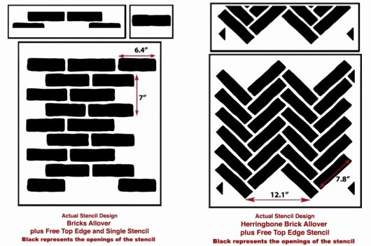 Faux Brick Stencil New Masonry Madness Join the Faux Brick Trend Using Stencils