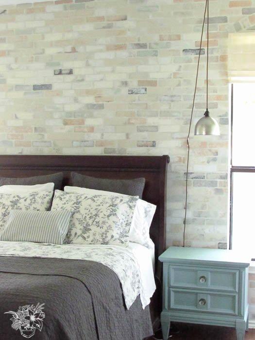Faux Brick Stencil Unique Faux Brick Stencil Feature Wall