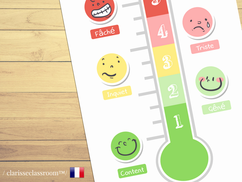 Feelings thermometer Printable Awesome Primary Teaching Resources