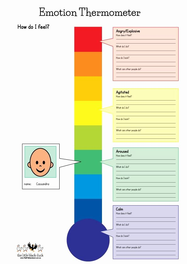 Feelings thermometer Printable Best Of 25 Best Ideas About Teaching Emotions On Pinterest