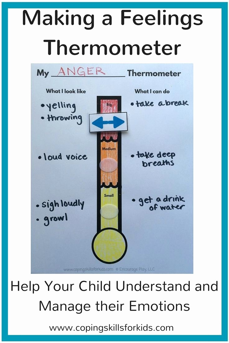 Feelings thermometer Printable Lovely Making A Feelings thermometer Counseling Kids
