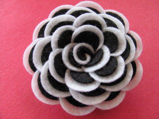 Felt Rose Pattern Awesome Felt Rose Pattern Abbey Rose Felt Flower Tutorial Hairclip