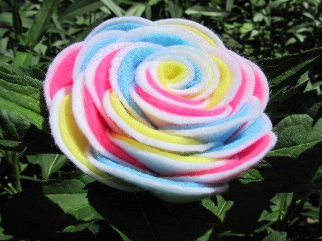 Felt Rose Pattern Awesome Felt Rose Pattern Kaylie Rose Felt Flower Pattern Hairclip