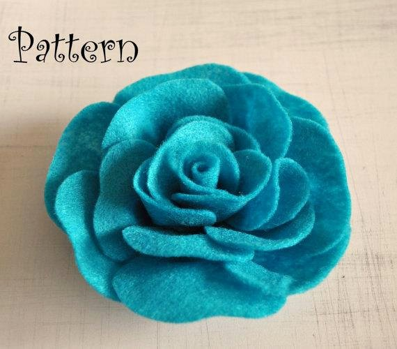 Felt Rose Pattern Awesome Rose Tutorial Felt Rose Pdf Headband Pattern Brooch Ebook How