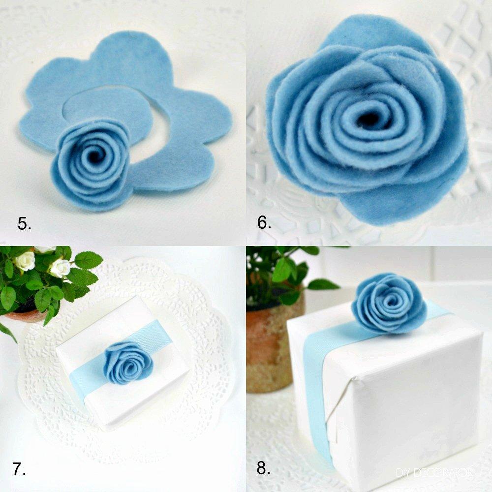 Felt Rose Pattern Beautiful How to Make A Felt Rose Diy Decorator
