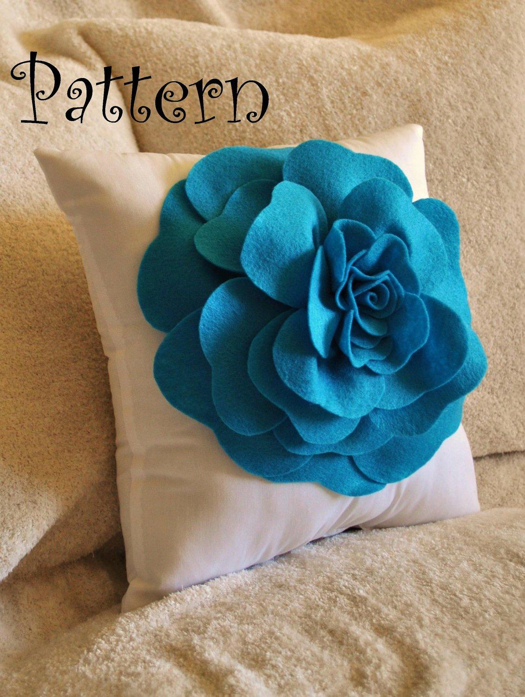 Felt Rose Pattern Best Of Flower Pattern Felt Rose with Bonus Pillow Pdf Pattern