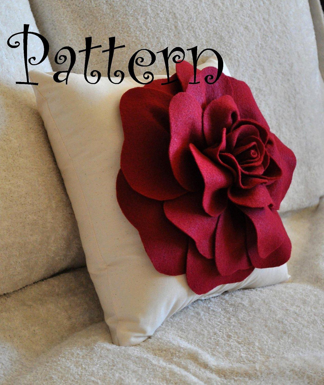 Felt Rose Pattern Fresh Diy Felt Rose with Bonus Pillow Pdf Pattern Tutorial